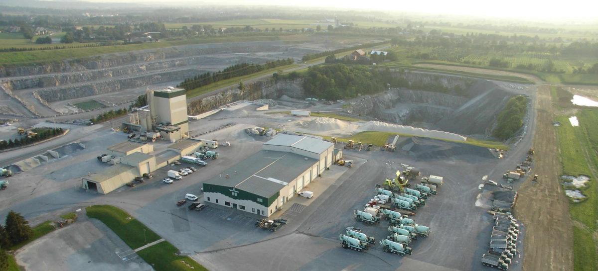 stone quarries, concrete operation, service center